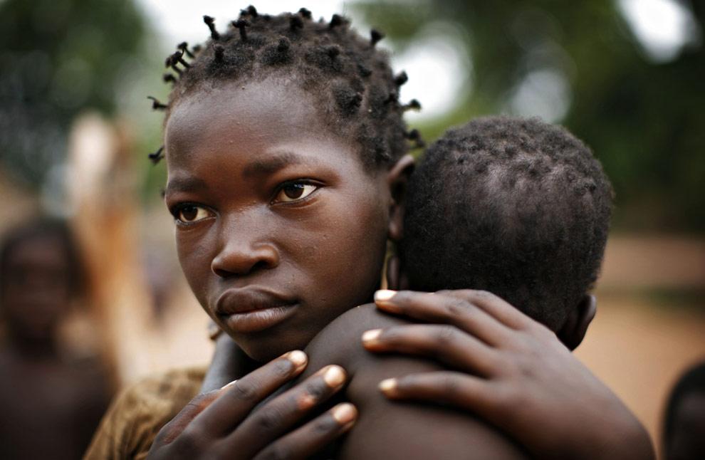 Africa girl hair