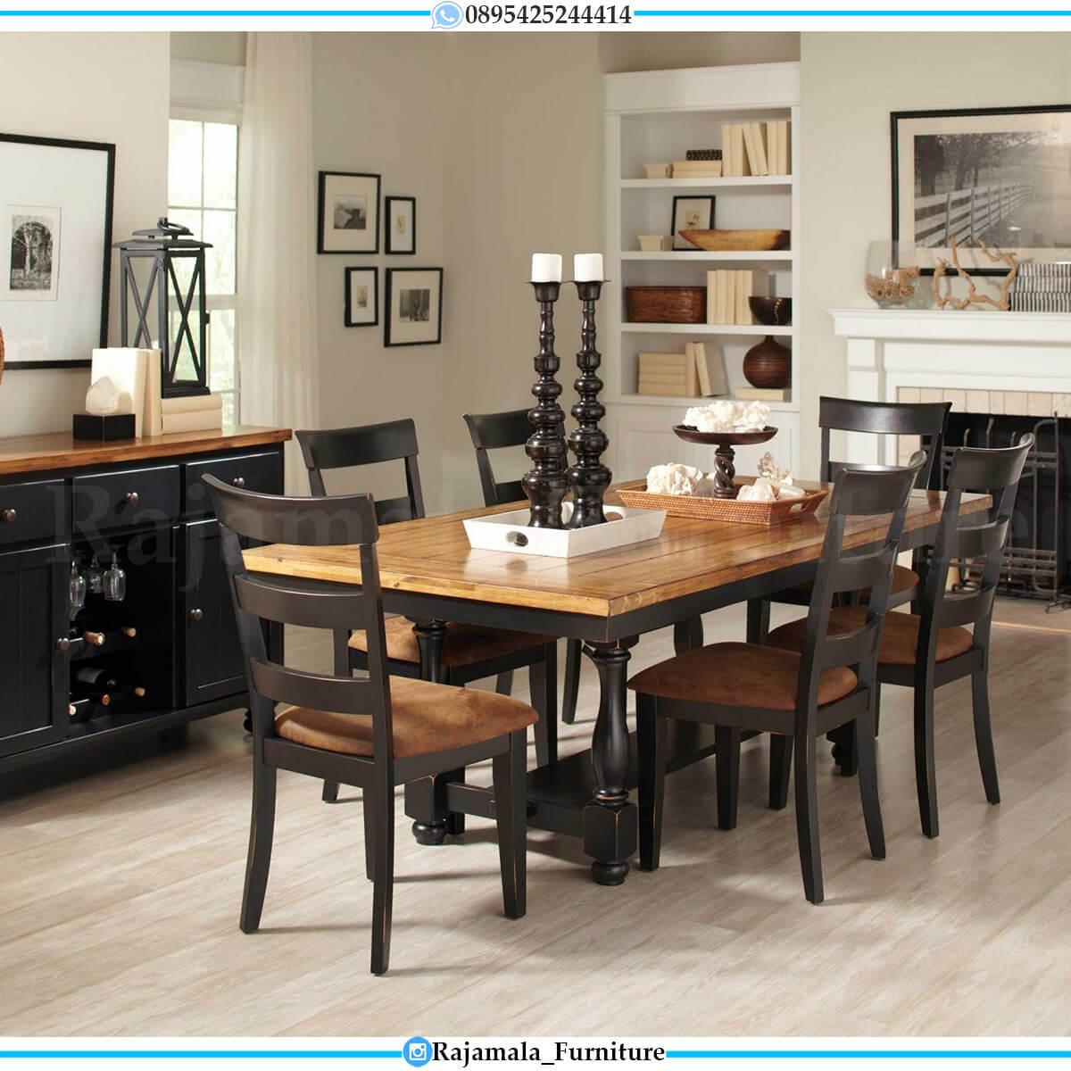 Model Meja Makan Minimalis Klasik Jati Natural Great Solid Wood RM-0595