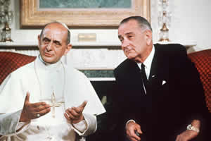 Paul VI and Lyndon Johnson
