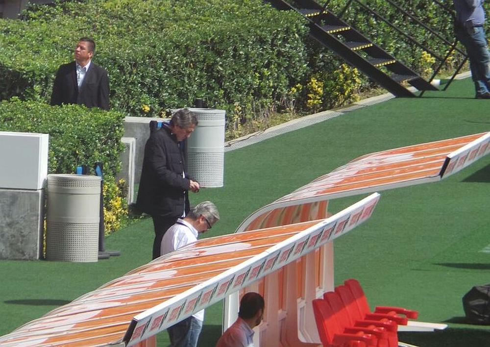 Jorge Vergara estuvo presenta en la práctica de Chivas.