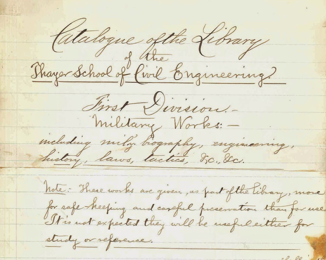 "A handwritten page for the ""Catalogue of the Library."""