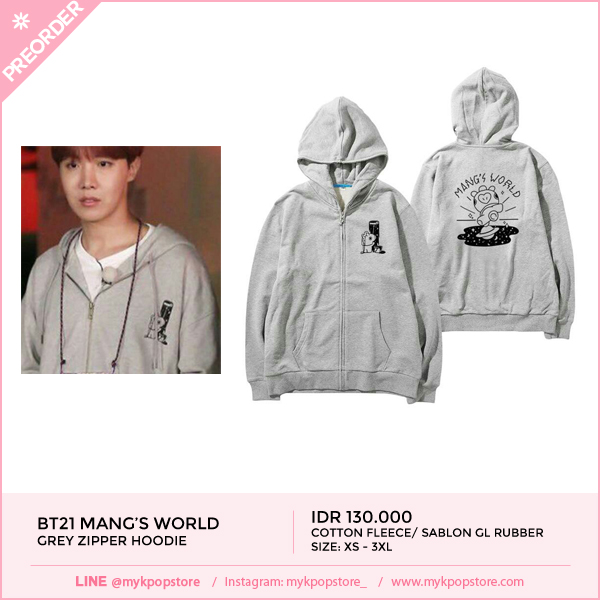 BT21 Mang's World Zipper Hoodie