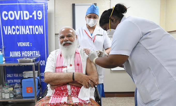 प्रधानमंत्री नरेंद्र मोदी COVID-19 वैक्सीन Covaxin की पहली खुराक ली, अधिक पढ़े