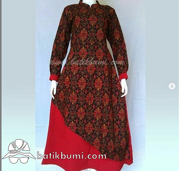 Batik Gamis Motif Songket Melati