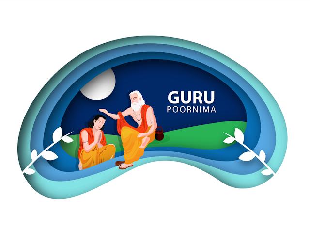 guru purnima concept paper cutout pattern