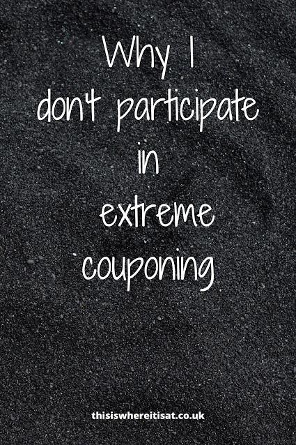Why I don't participate in extreme couponing