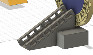 extrude the rectangle for the details of the stair