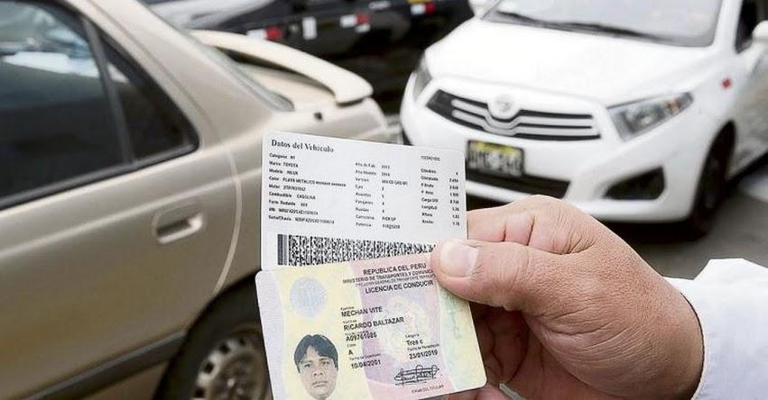 MTC: Amplían vigencia de licencias de conducir vencidas en 2020