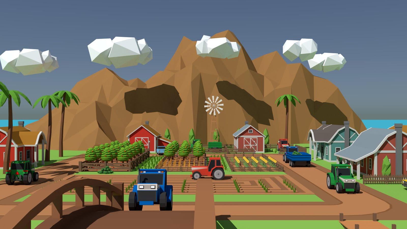 SimplePoly Farm low poly assets