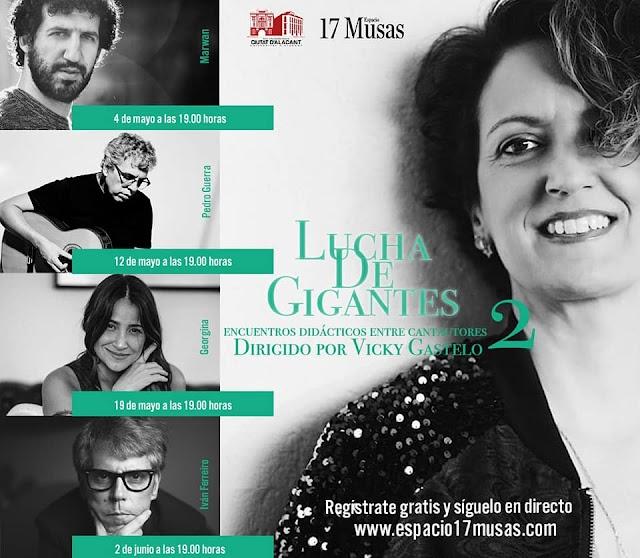 TALLERES DE VICKY GASTELO CON MARWÁN, PEDRO GUERRA, GEORGINA E IVÁN FERREIRO