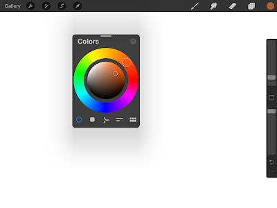 floating color wheel procreate 5