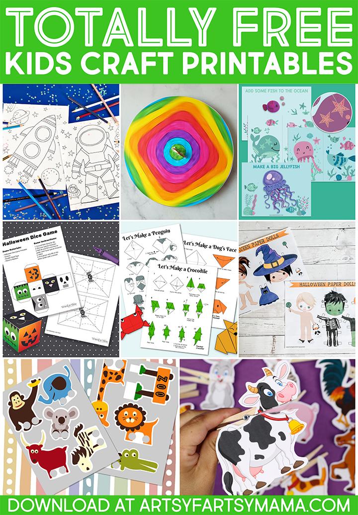 10 Totally Free Kids Craft Printables