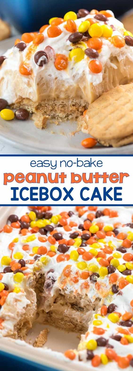 No Bake Peanut Butter Icebox Cake