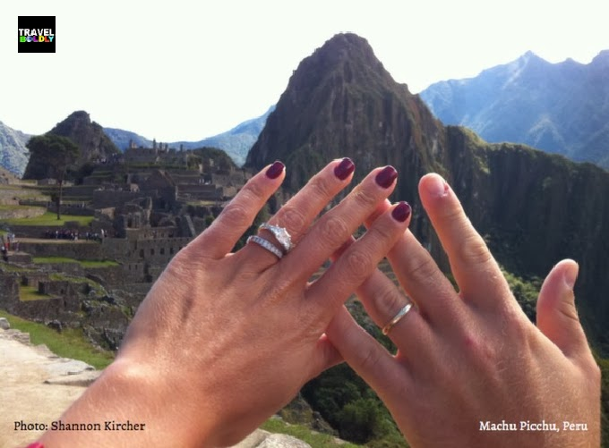 Honeymooning at Machu Picchu, Peru. Photo: Shannon Kircher for TravelBoldly.com