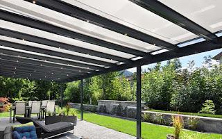стеклянная крыша на балках