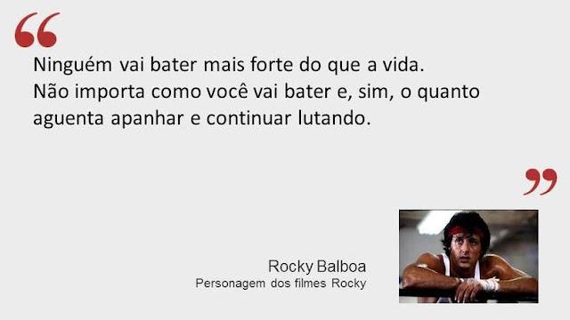 Frase de Rocky Balboa dos filmes Rocky