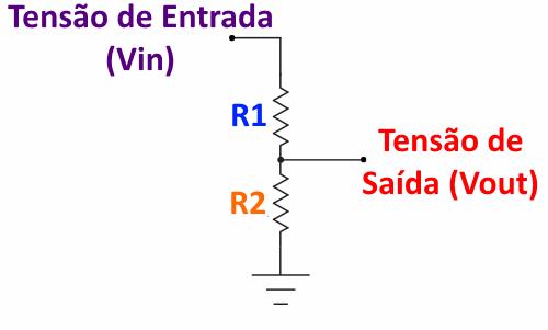calculo divisor de tensão resistores