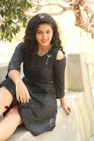 Telugu Actress Pavani Latest Pos in Black Short Dress at Smile Pictures Production No 1 Movie Opening  0112.JPG