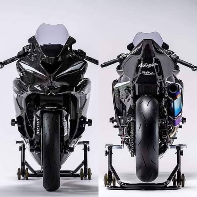 Kawasaki ZX25R Modifikasi Racing Depan dan belakang