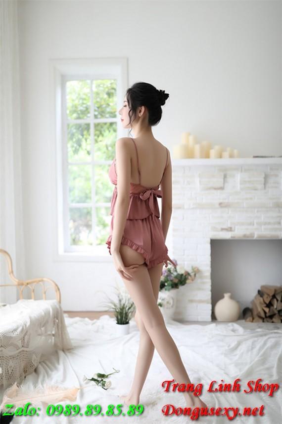 Đồ ngủ bộ quần ngắn áo ngắn 2 dây Sexy