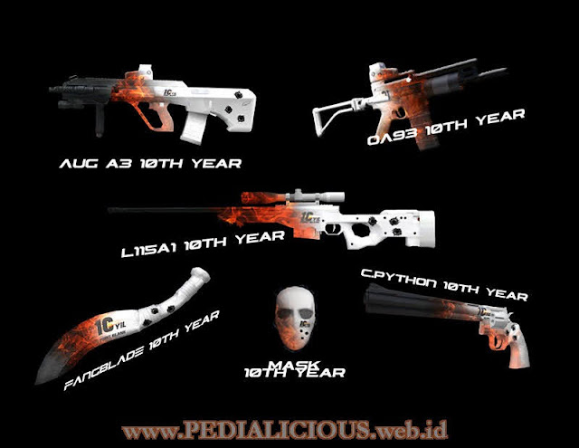 Harga & Statistik Seri 10th Year Rules Senjata Point Blank
