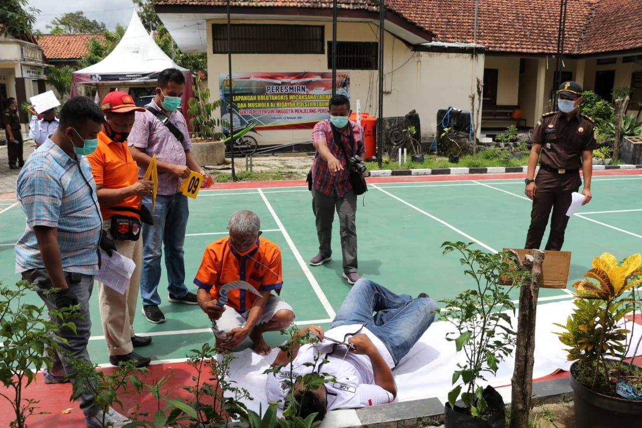 Kasus Pembacokan di Desa Argopeni Direkonstruksi, Sabit yang Digunakan Baru Diasah!