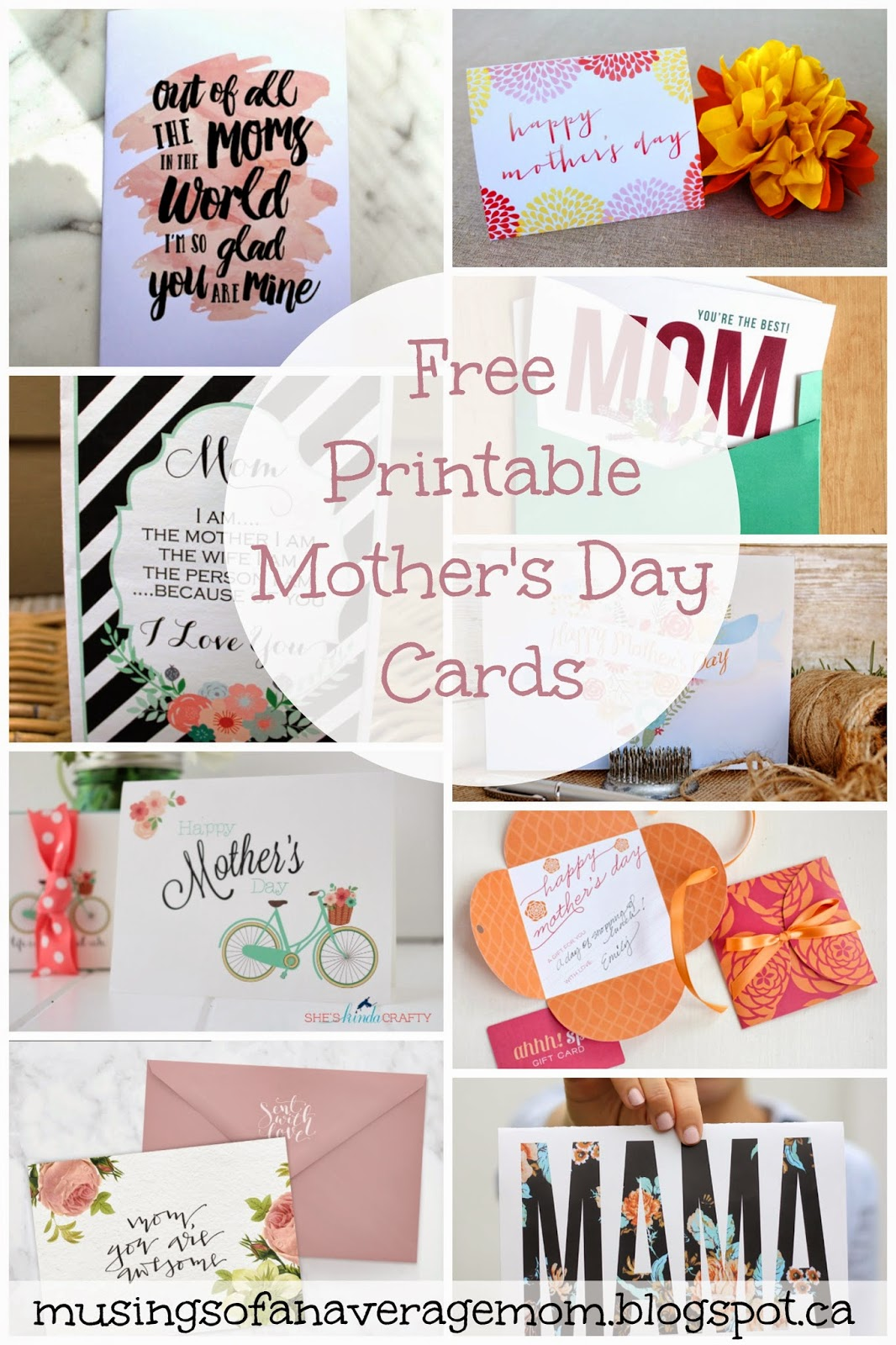 Musings Of An Average Mom Free Printable Mothers Day Cards