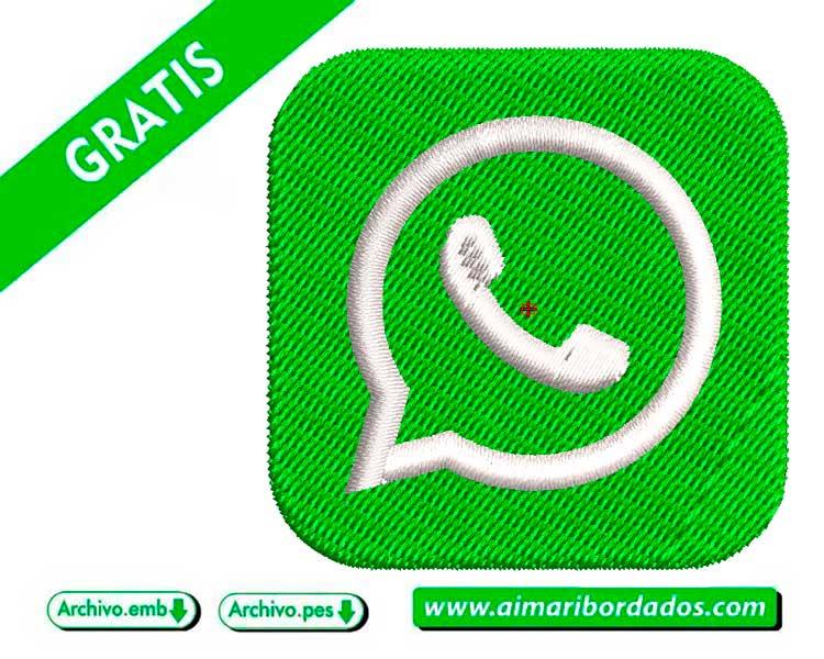 Logo whatsApp para bordar a máquina DESCARGA GRATIS