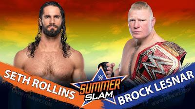 WWE SummerSlam Universal Title WrestleMania Seth Rollins Brock Lesnar