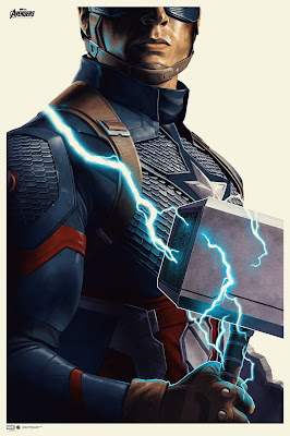 "Avengers: Endgame ""Captain America"" Screen Print by Phantom City Creative x Mondo x Marvel Comics"