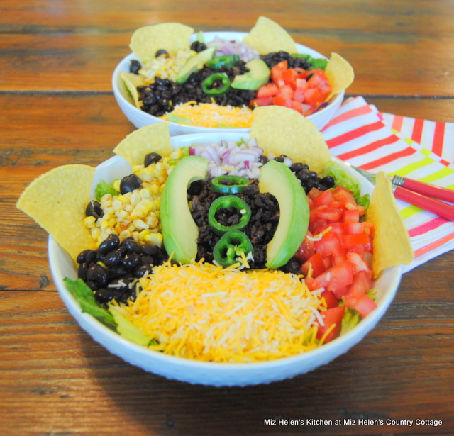Taco Tuesday Salad With Taco Dressing at Miz Helen's Country Cottage