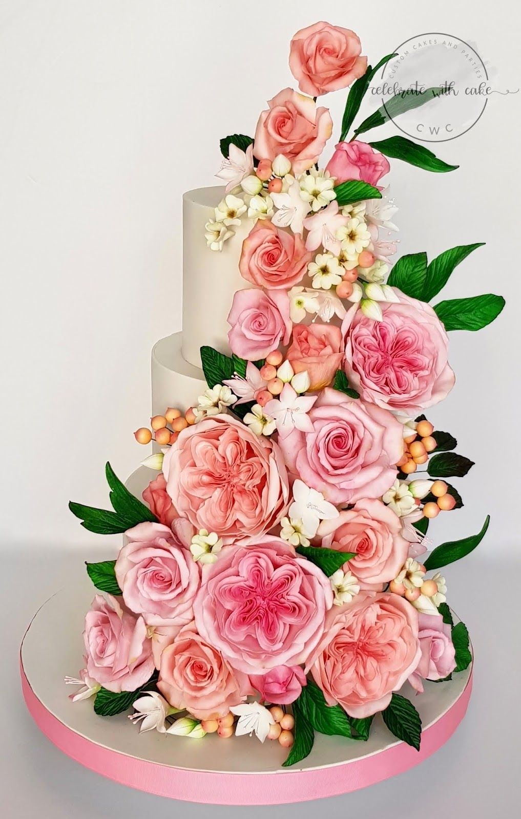 Celebrate With Cake 3 Tiered Wedding Cake With Roses David