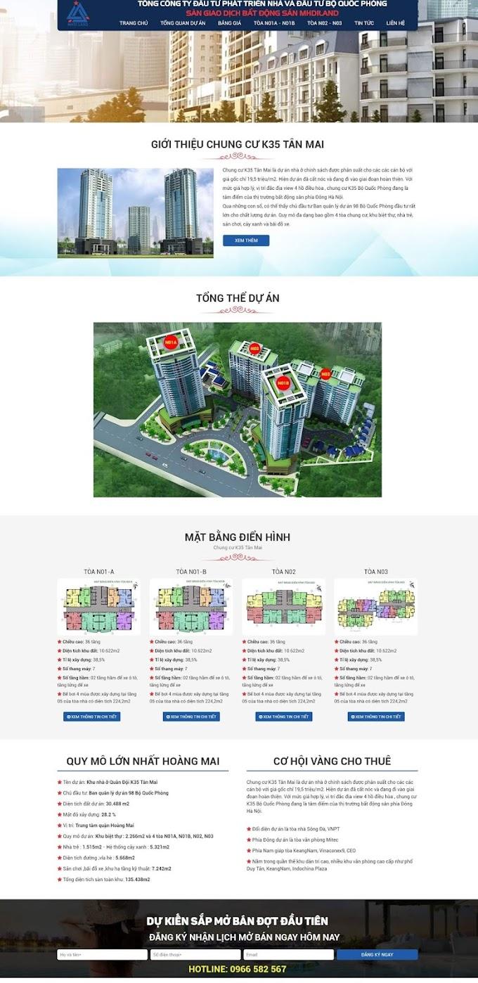 Mẫu web bất động sản giá rẻ