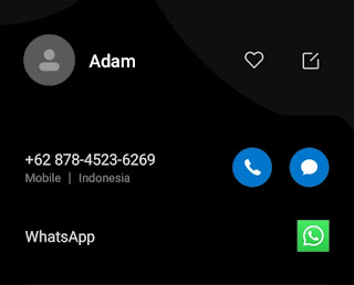 phone number saved in Android