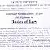 Admission Notification - PG Diploma in Basics of Law - Gauhati University - last date 30/07/2019