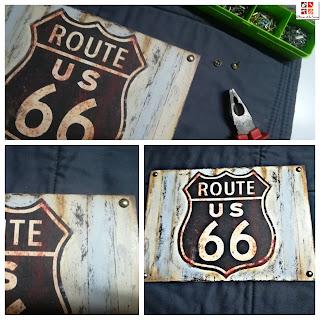 diy tablero ruta 66