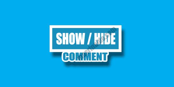 Cara memasang fitur show hide comments blogger