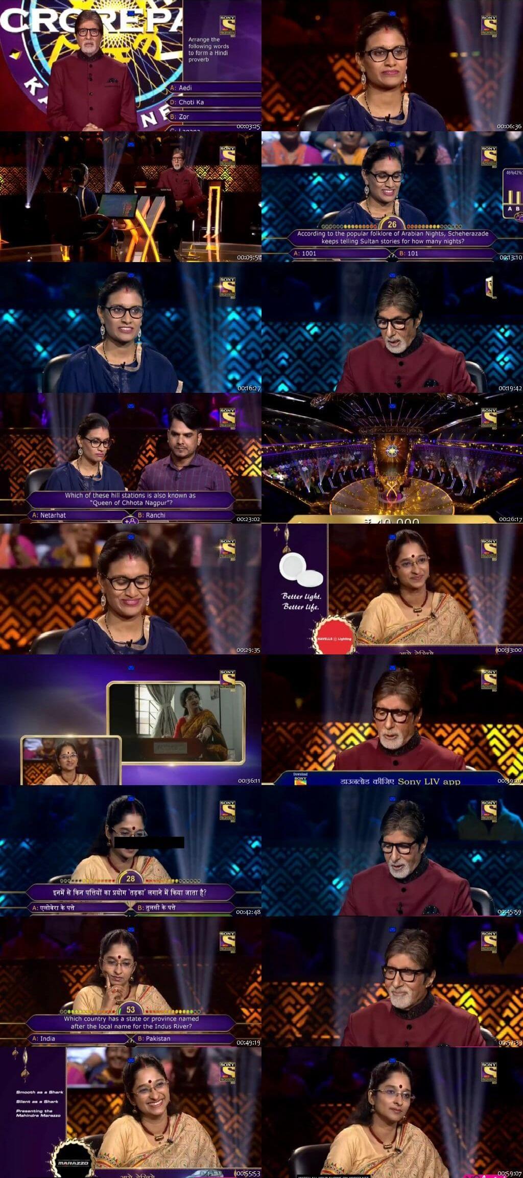 Screenshots Of Hindi Show Kaun Banega Crorepati Season 10 2018 10th October 300MB 480P HD