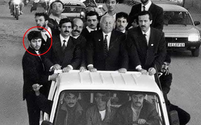 Osman Nuri Kabaktepe milli görüş kamyonunda