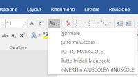 Trasformare testo maiuscolo o minuscolo in Word e LibreOffice