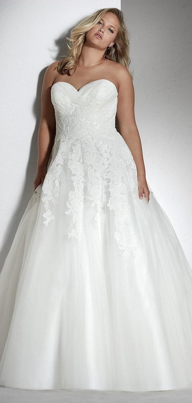 2018 plus size wedding dress
