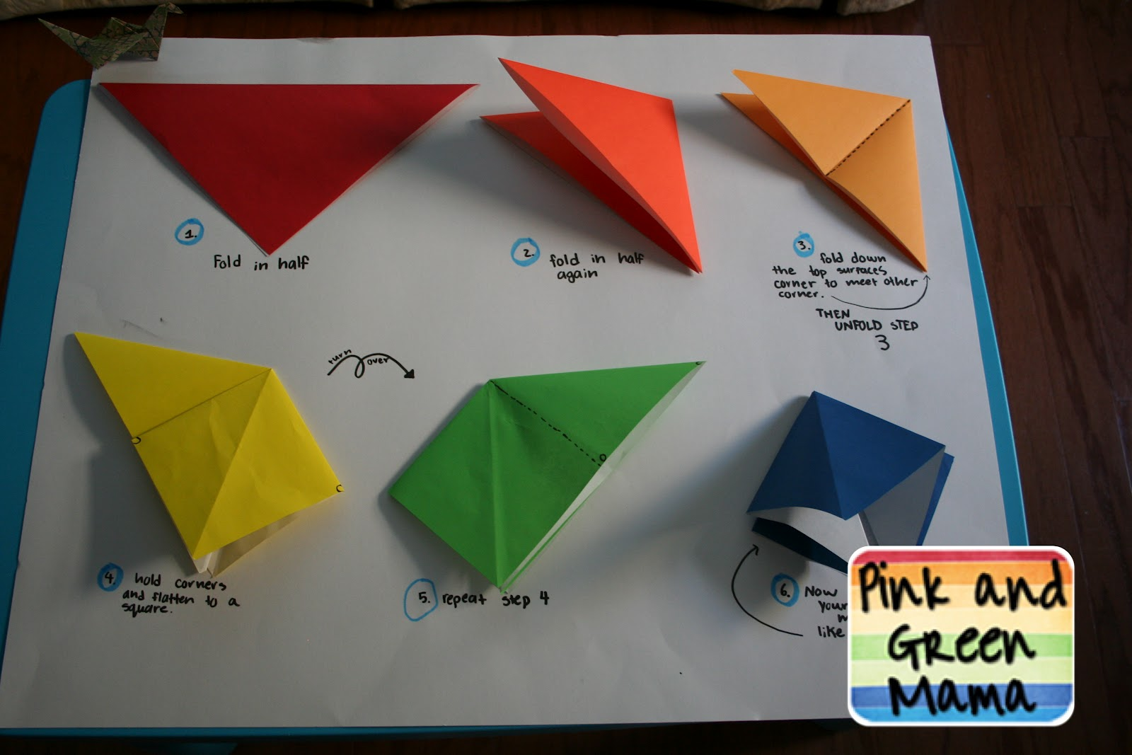 Pink and Green Mama: * Origami Peace Cranes Gift for ... - photo#15