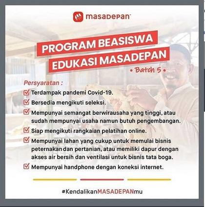 Program Beasiswa Edukasi Masadepan! #Batch5