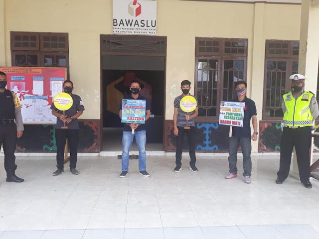 Ciptakan Sitkamtibmas Aman, Satlantas Polres Gumas Patroli ke KPU dan Bawaslu