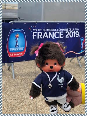 coupe du monde football féminine fanzone le havre kiki monchhichi