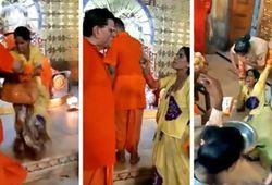 गणेशजी को प्रसन्न करने गर्भगृह में जाकर डांस करने लगी महिला, घसीटते हुए करना पड़ा बाहर