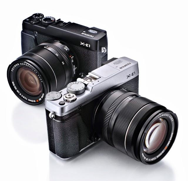 Fotografia della Fuji X-E1 nel colore nero e silver