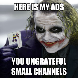 Rip small channel youtube