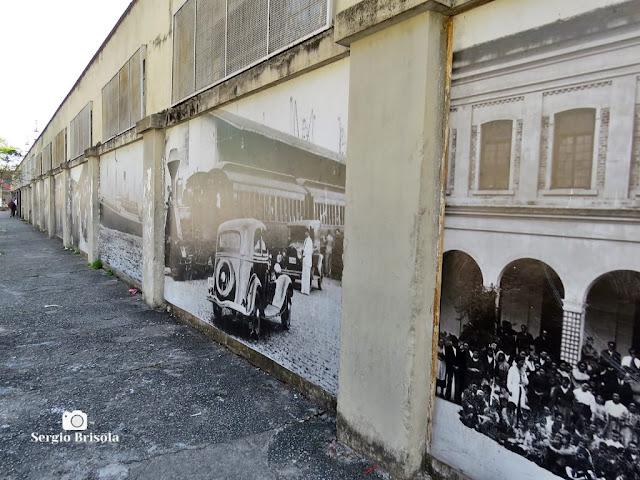 Vista lateral dos Painéis dos Imigrantes na Mooca - São Paulo
