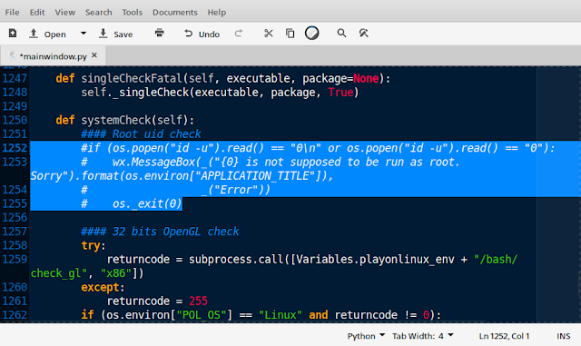 PlayOnLinux is not supposed to be run as root. Sorry